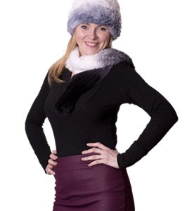 Fur Rabbit Scarf & Hat combo