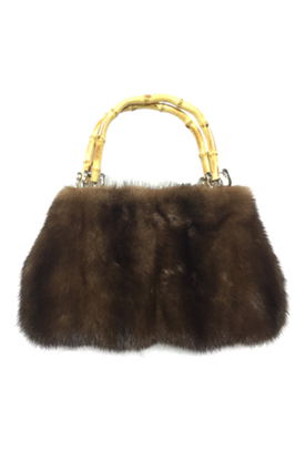 Small mink handbag