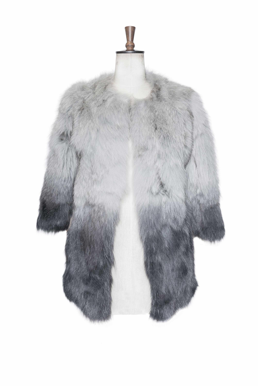 fox belly fur jacket