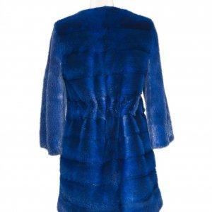 blue fur jacket back side