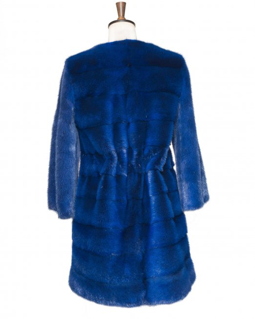 blue fur jacket back side