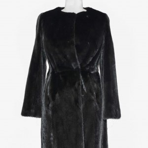 Collarless Mink coat