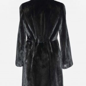 long black fur jacket backside