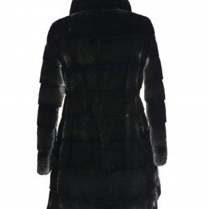 dark black fur jacket backside