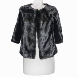 black mink-fur jacket