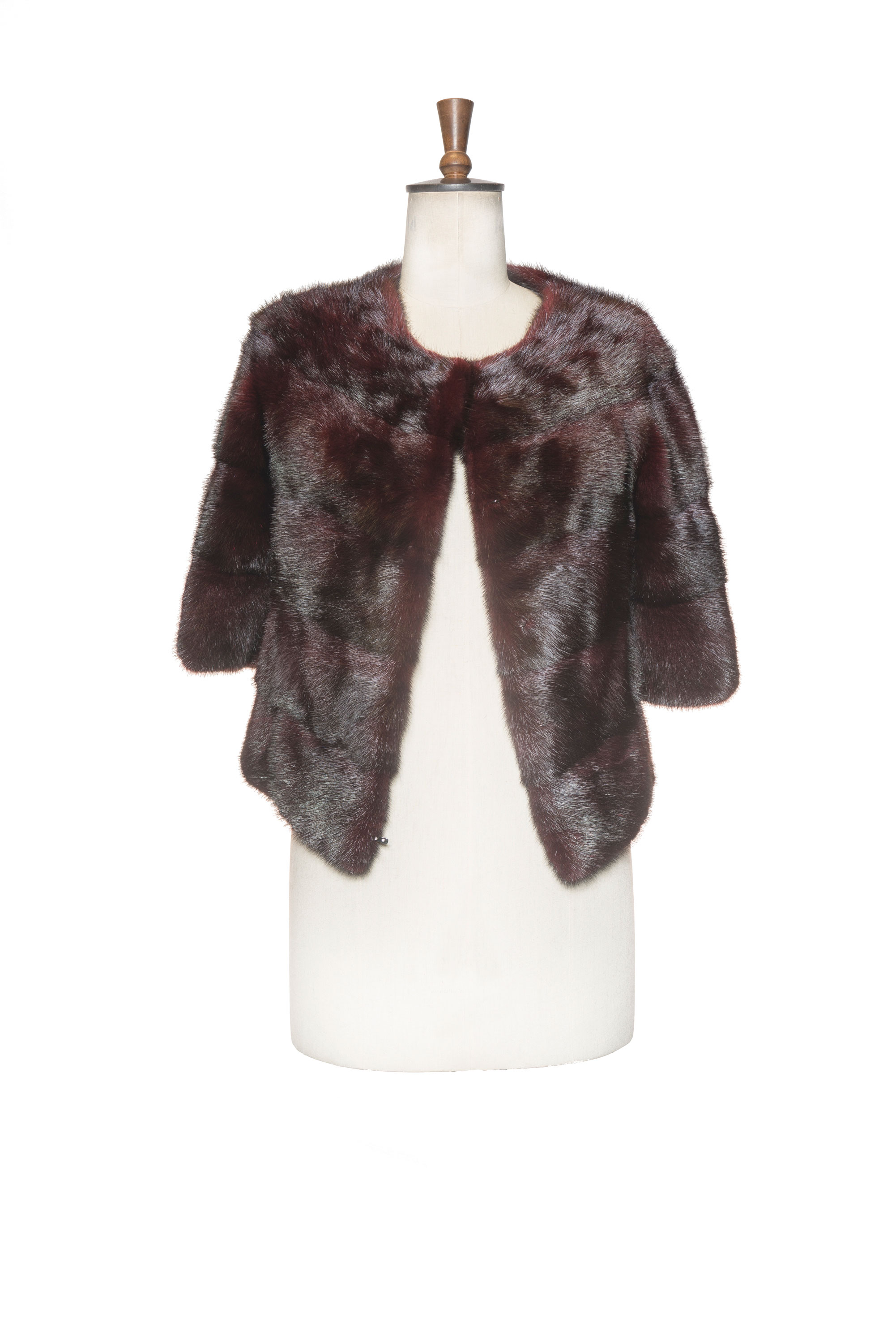 dark fur coat front side
