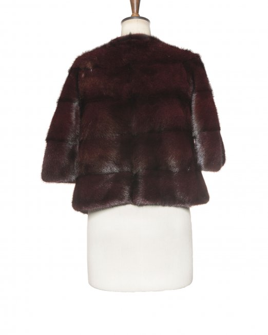 dark fur coat backside