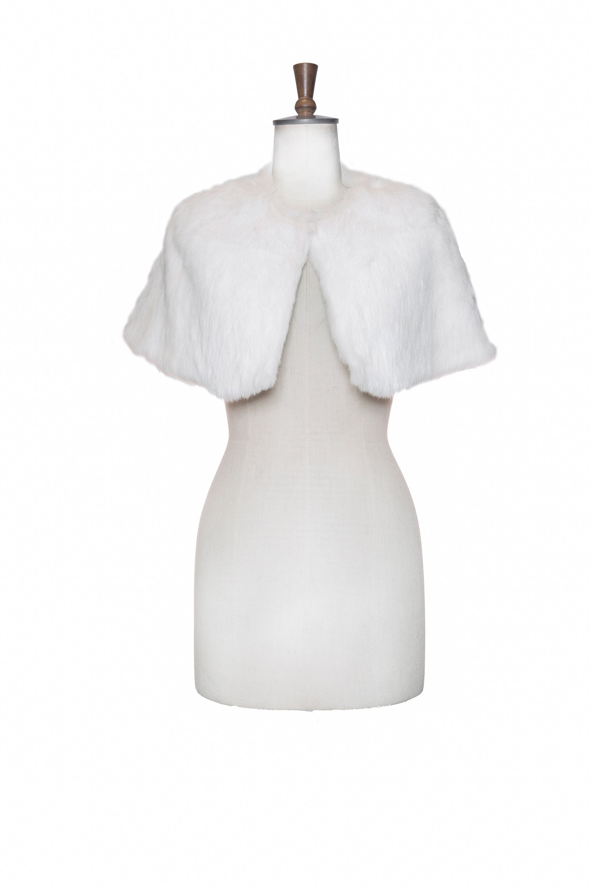 short white mink wrap